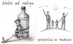 """plakat kampanii społecznej """"Wolni od nałogu – szczęśliwi w rodzinie"""""""